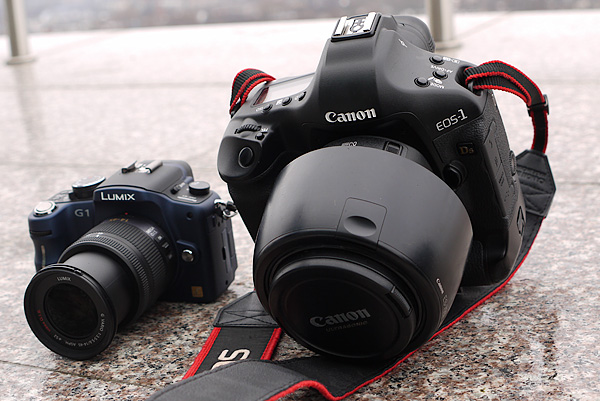 Panasonic LUMIX DMC-G1 un Canon EOS 1Ds Mark III