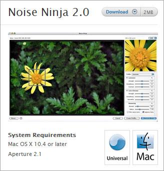 PictureCode izlaiž Noise Ninja 2 0 arī Aperture lietotājiem