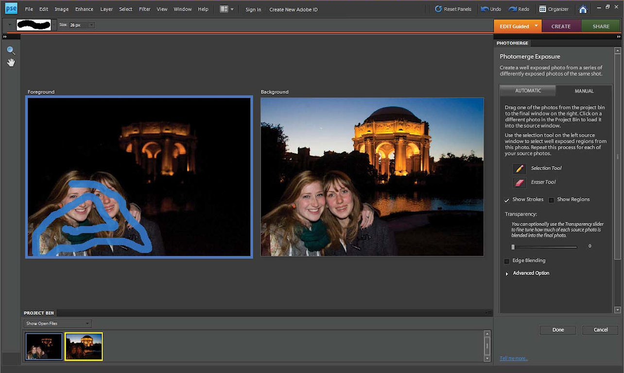 adobe photoshop elements 8 photomerge