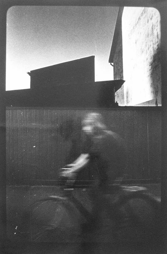 Egons Spuris boy on bicycle c 1978