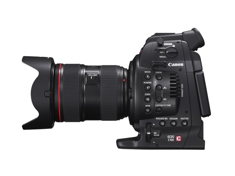 EOS C100 SIDE RIGHT w EF 24-70mm